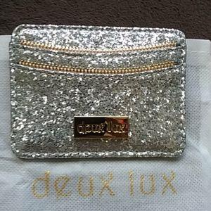 DEUX LUX Glitter Card Holder